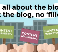We're all about the blog, about the blog, no 'filler'!