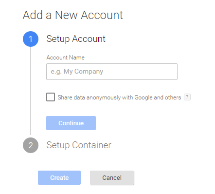Google Tag Manager Account Set up